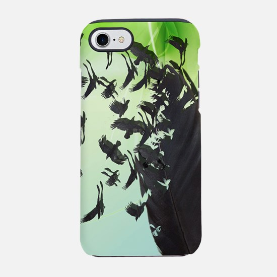Crow Feather Green iPhone 7 Tough Case