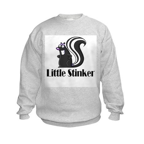 Little Stinker Girl Skunk Kids Sweatshirt