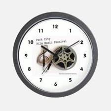 Park City Film Music Festival Logo on Wall Clock