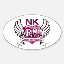 NK Army Oval Decal