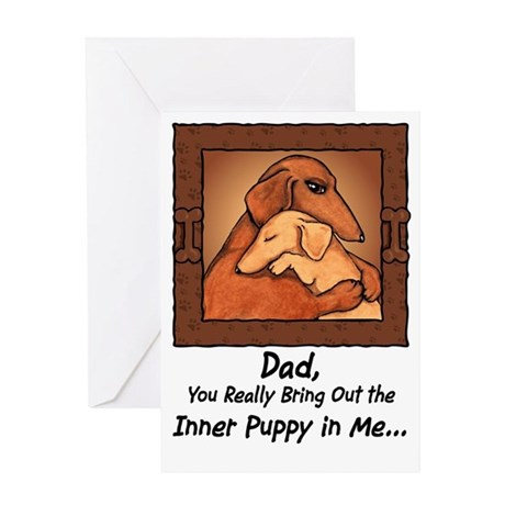 Dachshund Father's Day Greeting Card