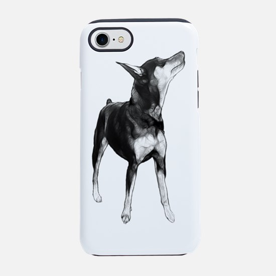Miniature Pinscher Sketch iPhone 7 Tough Case