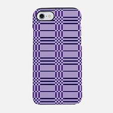 Purple Plaid iPhone 4 Clear.pn iPhone 7 Tough Case