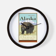 Travel Alaska Wall Clock