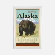Travel Alaska Rectangle Magnet