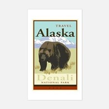 Travel Alaska Rectangle Decal