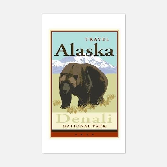 Travel Alaska Rectangle Decal