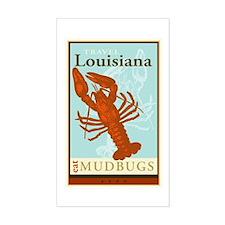 Travel Louisiana Rectangle Decal