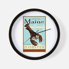 Travel Maine Wall Clock