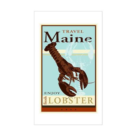 Travel Maine Rectangle Sticker