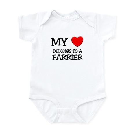 My Heart Belongs To A FARRIER Infant Bodysuit