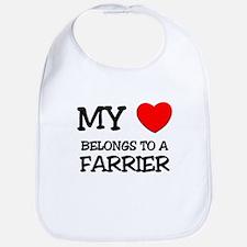 My Heart Belongs To A FARRIER Bib