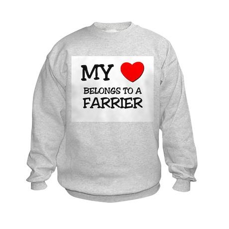 My Heart Belongs To A FARRIER Kids Sweatshirt