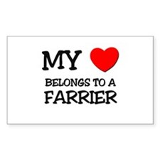 My Heart Belongs To A FARRIER Rectangle Decal