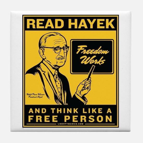 Read Hayek Tile Coaster