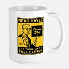 Read Hayek Large Mug