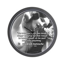Desire for Women Nietzsche Wall Clock