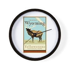 Travel Wyoming Wall Clock