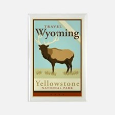 Travel Wyoming Rectangle Magnet