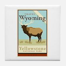 Travel Wyoming Tile Coaster