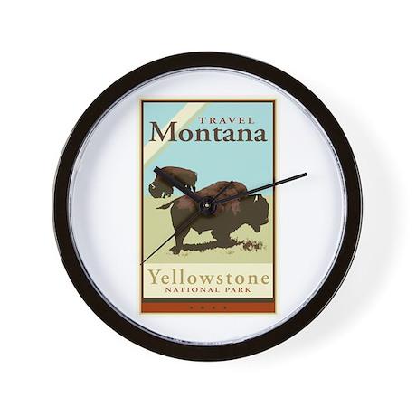 Travel Montana Wall Clock