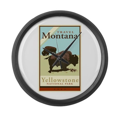 Travel Montana Large Wall Clock