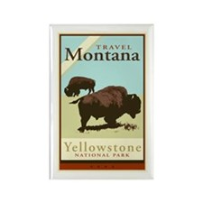 Travel Montana Rectangle Magnet