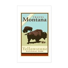 Travel Montana Rectangle Decal