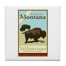 Travel Montana Tile Coaster