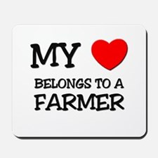 My Heart Belongs To A FARMER Mousepad