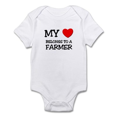 My Heart Belongs To A FARMER Infant Bodysuit