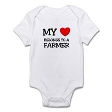 My Heart Belongs To A FARMER Infant Bodysuit