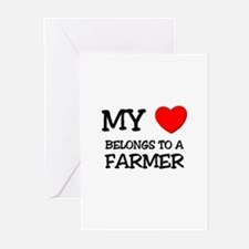 My Heart Belongs To A FARMER Greeting Cards (Pk of