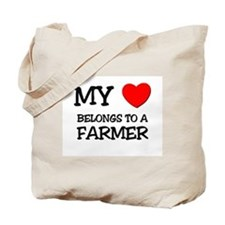 My Heart Belongs To A FARMER Tote Bag