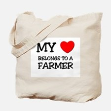 My Heart Belongs To A FARMER Tote Bag