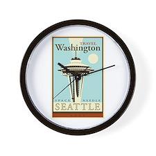 Travel Washington Wall Clock