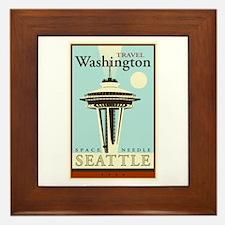 Travel Washington Framed Tile