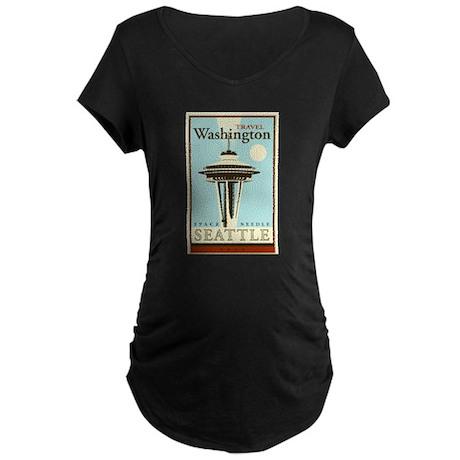 Travel Washington Maternity Dark T-Shirt