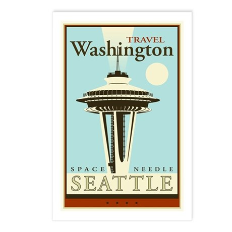 Travel Washington Postcards (Package of 8)