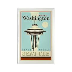 Travel Washington Rectangle Magnet