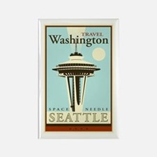 Travel Washington Rectangle Magnet