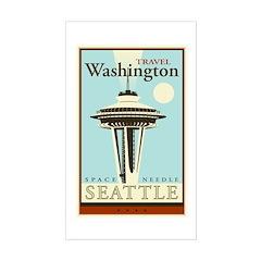 Travel Washington Rectangle Decal