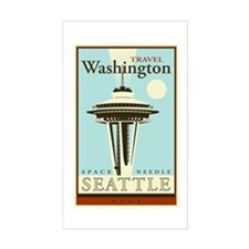 Travel Washington Rectangle Decal