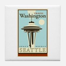 Travel Washington Tile Coaster