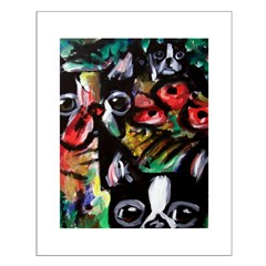 Boston Terrier Abstract Posters
