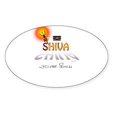 Symbols of Shiva Oval Decal