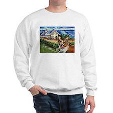 Happy Corgi home sweet home Sweatshirt