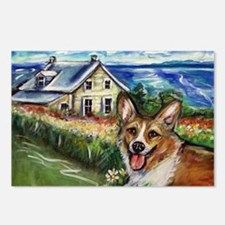 Happy Corgi home sweet home Postcards (Package of
