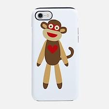 Unique Sock monkey art iPhone 7 Tough Case