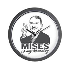 Mises Is My Homeboy Wall Clock